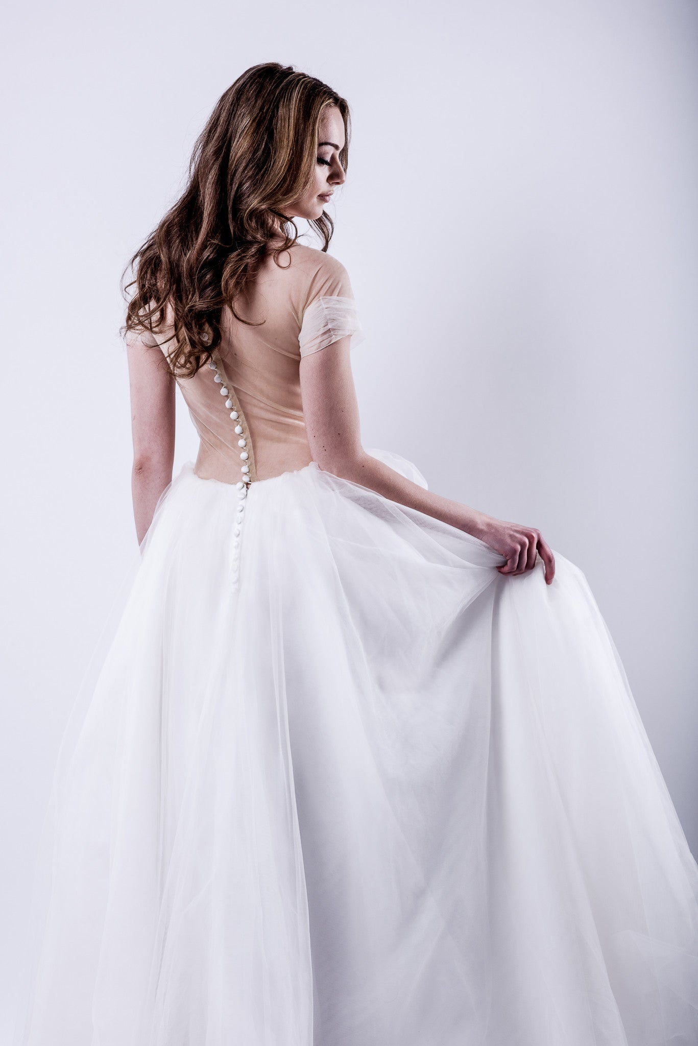 Tulle Ball Gown Wedding Dress (#Kennadie) - Dream Dresses by P.M.N  - 3