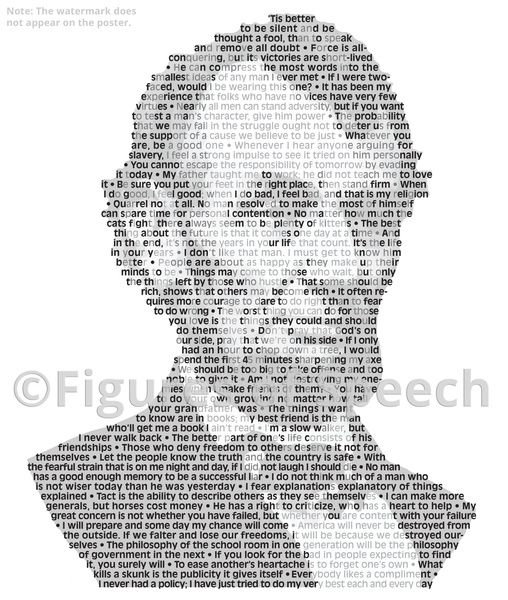 Original Abraham Lincoln Poster in his own words. Image made of Abe Lincoln's quotes!