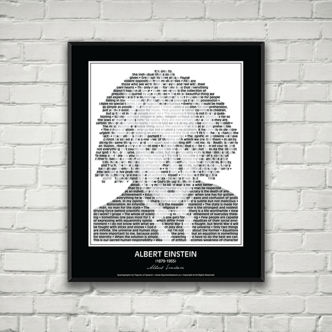 Original Albert Einstein Poster in his own words. Image made of Einstein's quotes!