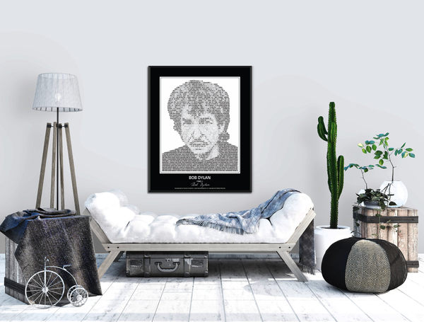 Original Bob Dylan Poster in his own words. Image made of Bob Dylan's quotes!