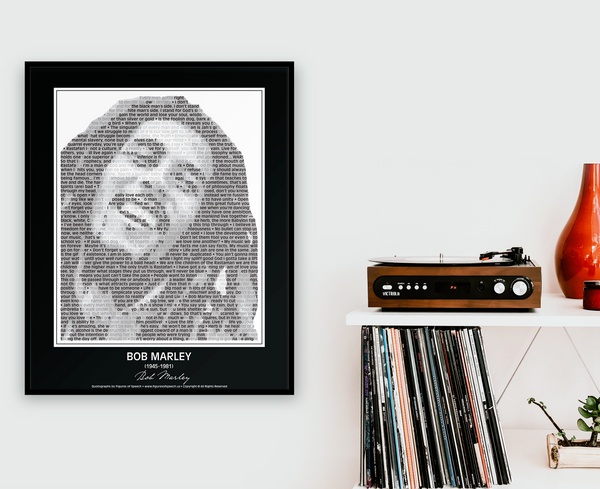 Original Bob Marley Poster in his own words. Image made of Bob Marley's quotes!