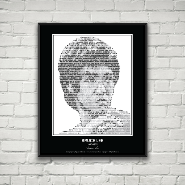 Original Bruce Lee Poster In his own words. Image made of Bruce Lee's quotes!