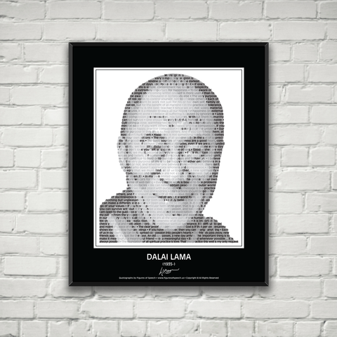Original Dalai Lama Poster in his own words. Image made of Dalai Lama's quotes!