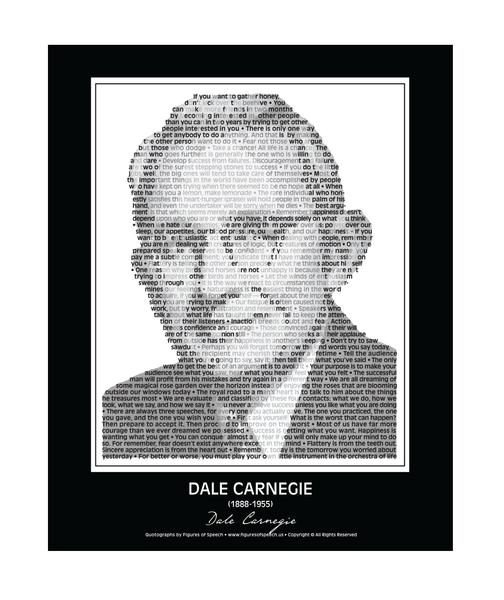 Original Dale Carnegie Poster in his own words. Image made of Dale Carnegie's quotes!
