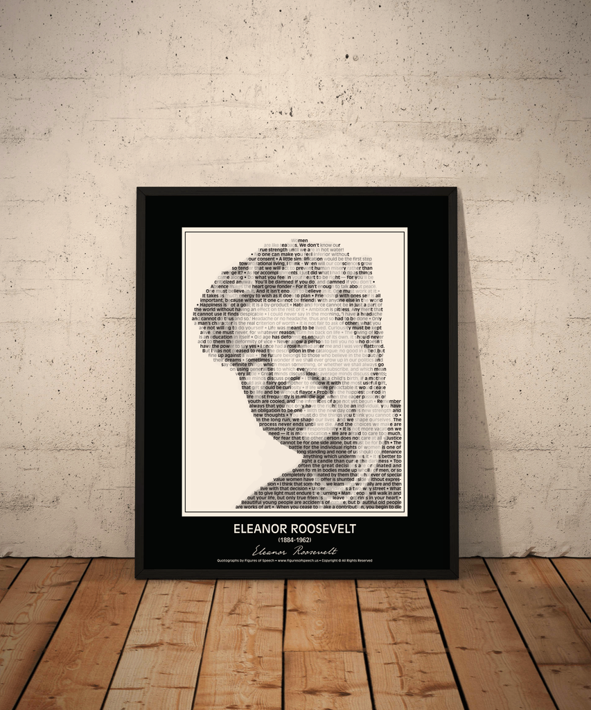 Original Eleanor Roosevelt Poster In Her Own Words Image Made Of