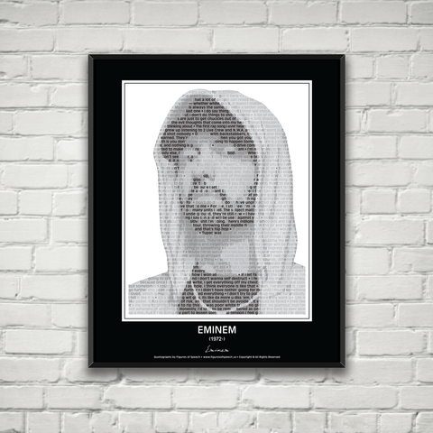 Original Eminem Poster in his own words. Image made of Eminem's quotes!