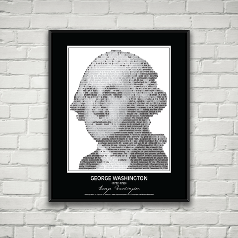 Original George Washington Poster in his own words. Image made of George Washington's quotes!
