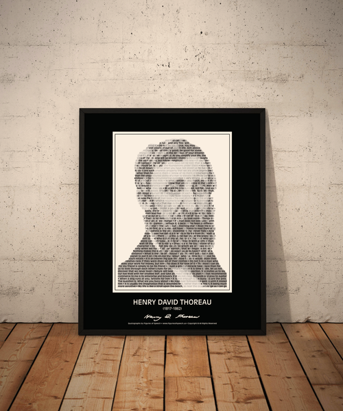 Original Henry David Thoreau Poster in his own words. Image made of Thoreau's quotes!