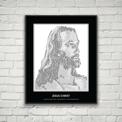 Original Jesus Christ Poster in his own words. Image made of Jesus' teachings!