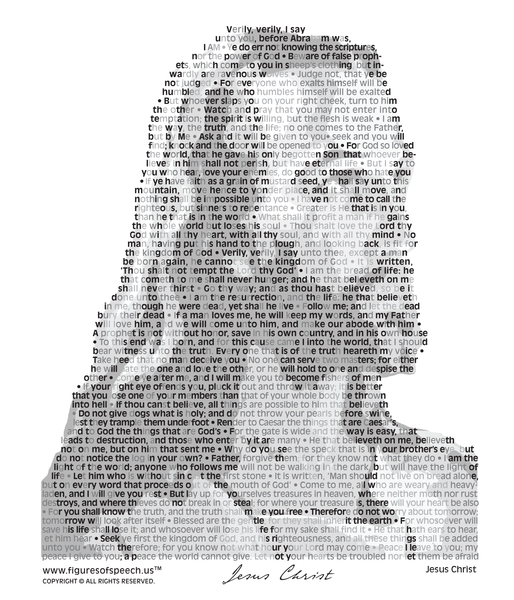 Figures Of Speech Jesus Christ T-Shirt Design