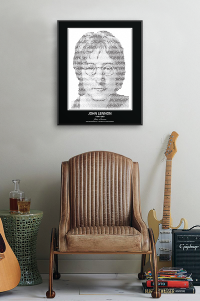 Original John Lennon Poster in his own words. Image made of John Lennon's quotes!