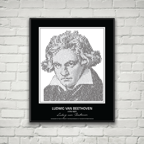 Original Ludwig van Beethoven Poster in his own words. Image made of Beethoven's quotes!