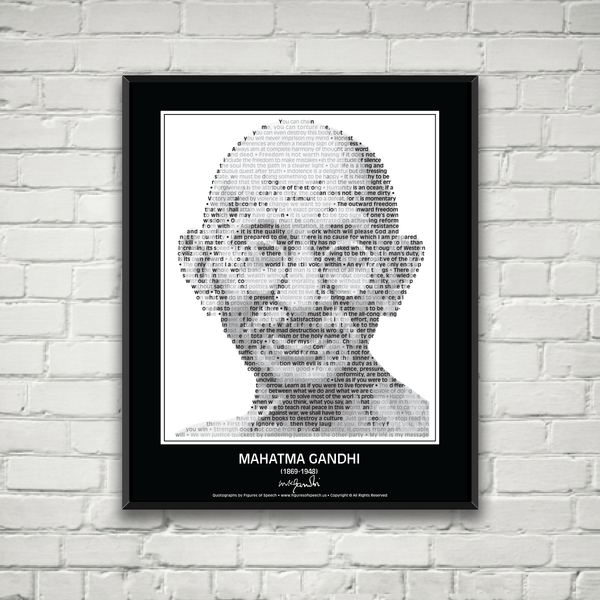 Original Gandhi Poster in his own words. Image made of Gandhi's quotes!