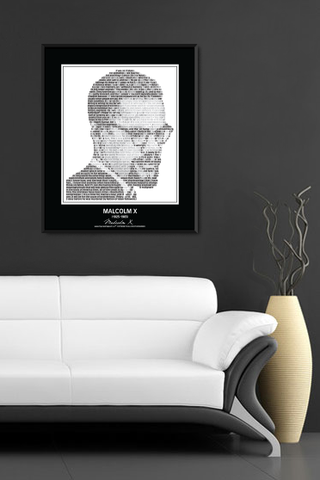Malcolm X Wall Poster