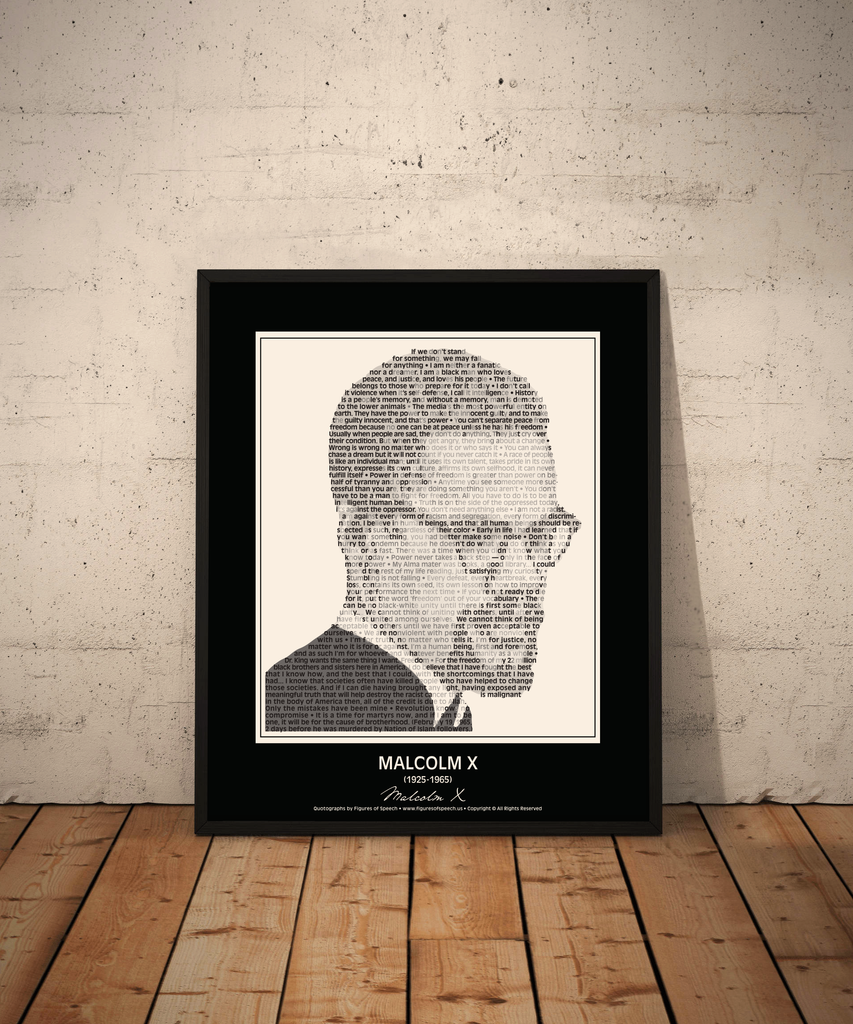Original Malcolm X Poster In His Own Words Image Made Of Malcolm