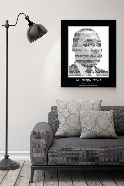 Original Martin Luther King Jr. Poster in his own words. Image made of MLK's quotes!
