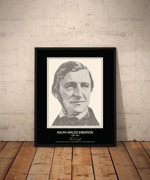 Original Ralph Waldo Emerson Poster in his own words. Image made of Emerson's quotes!