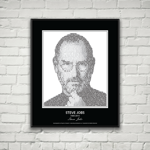 Original Steve Jobs Poster in his own words. Image made of Steve Jobs' quotes!