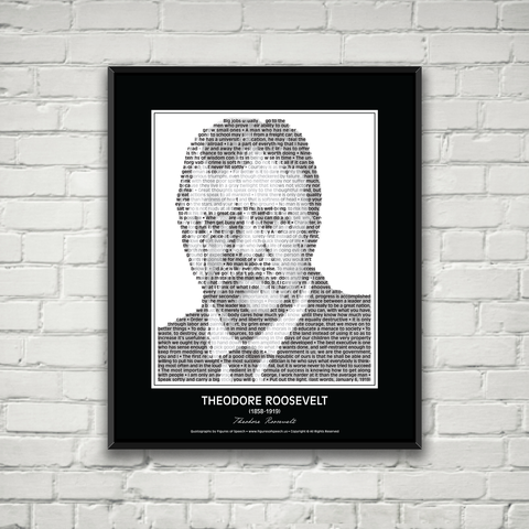 Original Theodore Roosevelt Poster in his own words. Image made of Teddy Roosevelt's quotes!