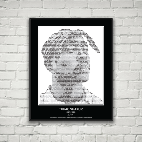 Original Tupac Shakur Poster in his own words. Image made of Tupac Shakur's quotes!