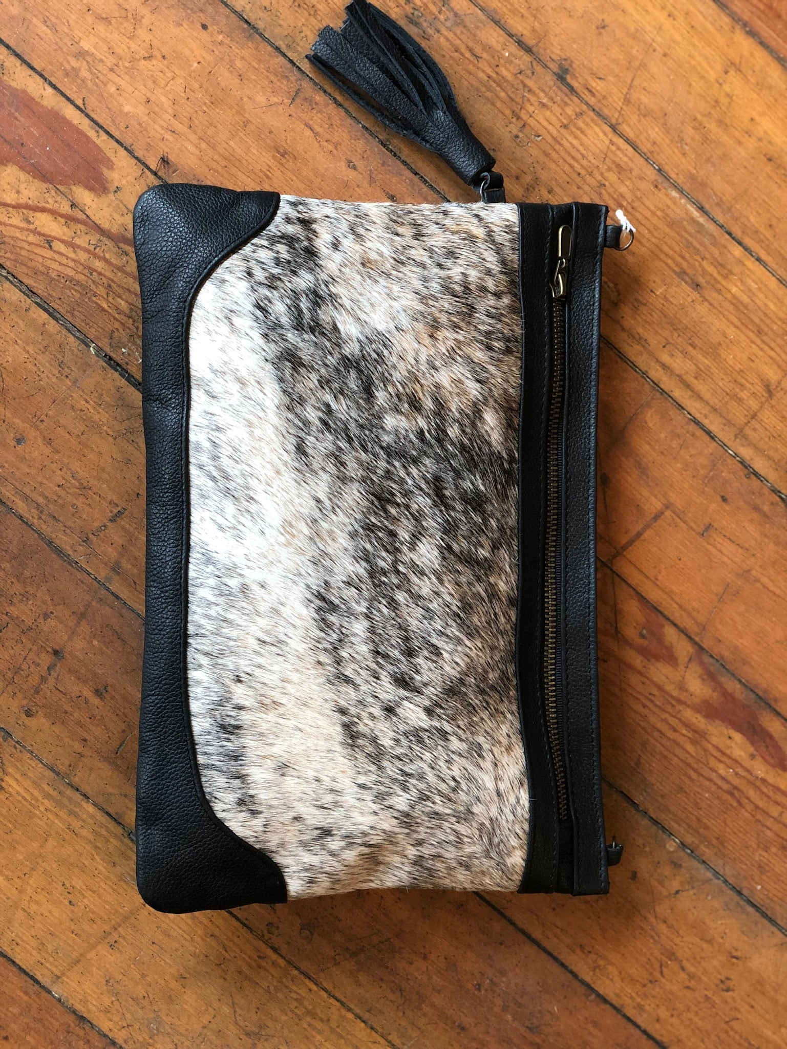 Agave Sky Cowhide Leather Shoulder Clutch Bag