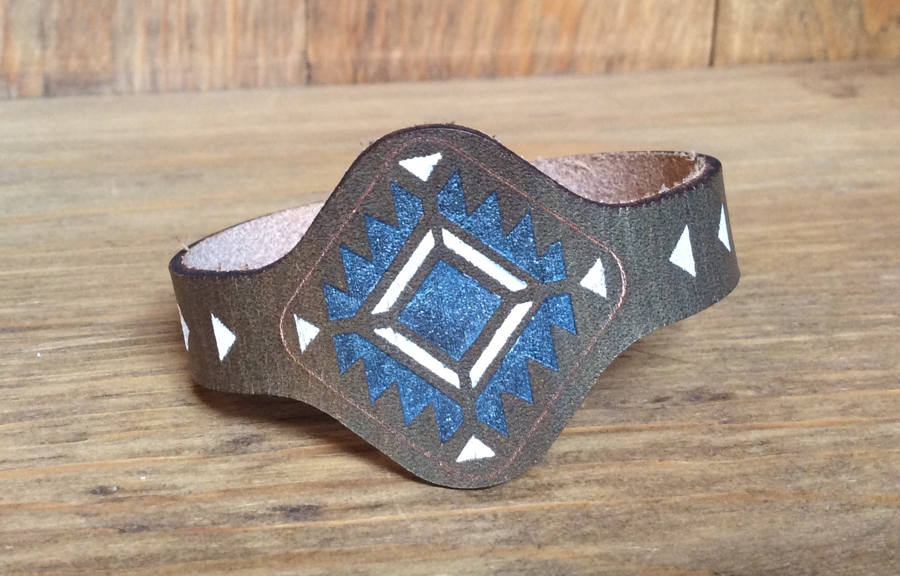 SXS  Leather Snap On Square Cuff - tempting-teal-boutique