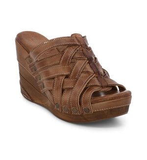Bed Stu Gina II Wedge Sandal in Tan Rustic - tempting-teal-boutique