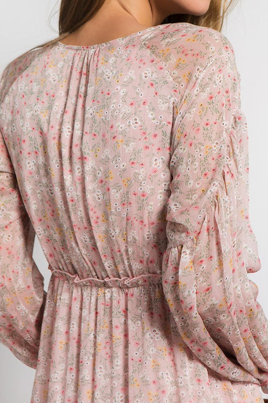 Spring Fever Dusty Pink Long Flowy Dress