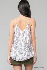 Ivory Combo Front Cross Strap Tank Top