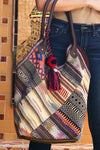 Serape Patch Work Tote Bag