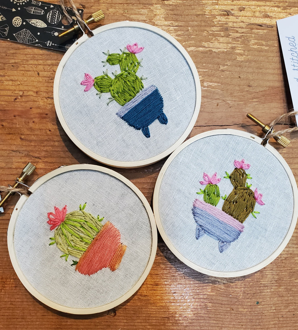 Little Cactus Embroidery Decor