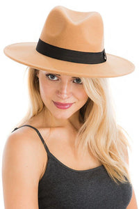 Felt Panama Style Fedora Hat in Assorted Colors