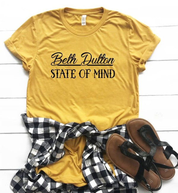 Beth Dutton State of Mind Crew Neck Softstyle Tee
