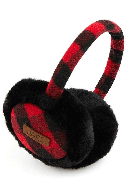 C.C. Beanie Patterned Earmuffs
