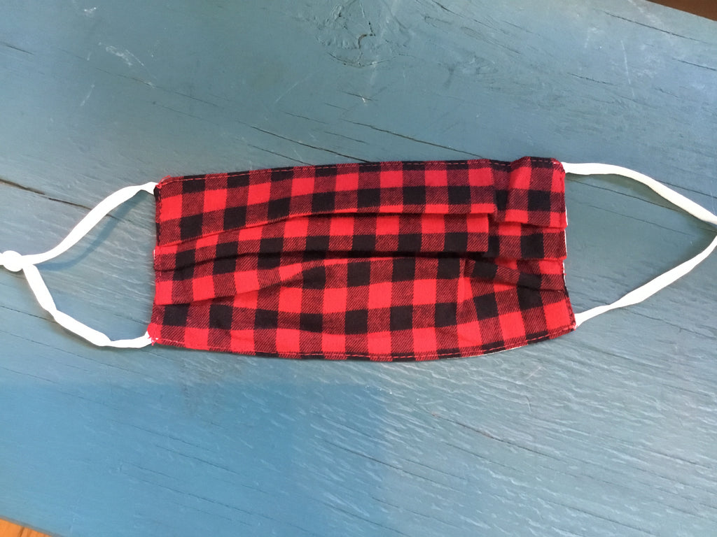 Camo, Red Plaid or Leopard Adjustable Mask
