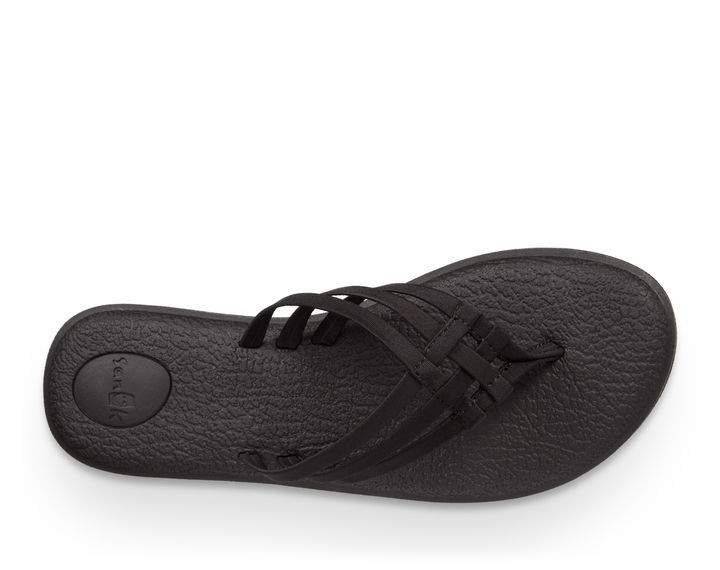 Sanuk Yoga Salty Sandal in Black