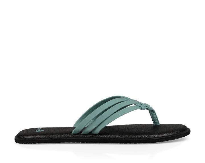 Sanuk Yoga Salty Sandal in Mineral Blue