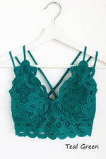 Double Strap Scalloped Lace Bralette in Assorted Colors