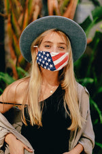 Face Masks American Flag or Assorted Bandana Print