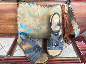 Rieker Blue Strappy Sandals