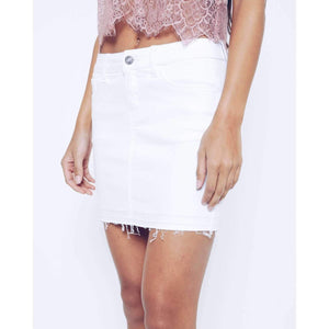 KanCan Denim White Skirt