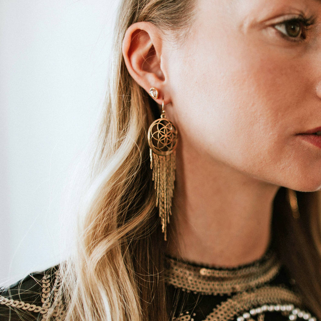 Dreamer Earrings in Gold