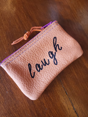 Small Leather Zipper Coin Pouches