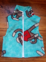 Wolfe Fleece Baby Vest 6-12 Months - tempting-teal-boutique