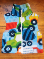 Wolfe Fleece Baby Vest 0-6 Months - tempting-teal-boutique