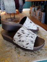 Melissa Cowhide Leather Chocolate Wedge Sandals