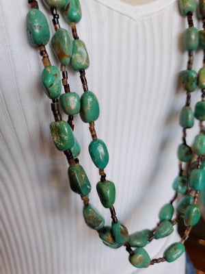 Three Strand Kingman Turquoise Necklace