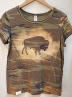 Camo Couture Buffalo Tee - tempting-teal-boutique