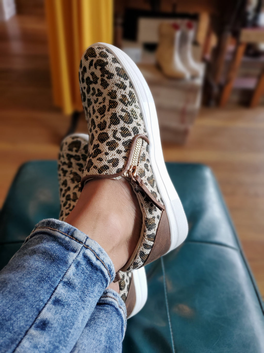 Not Rated Timbre Sneakers in Leopard - tempting-teal-boutique