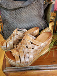 Bed Stu Gina II Wedge Sandal in Tan Rustic